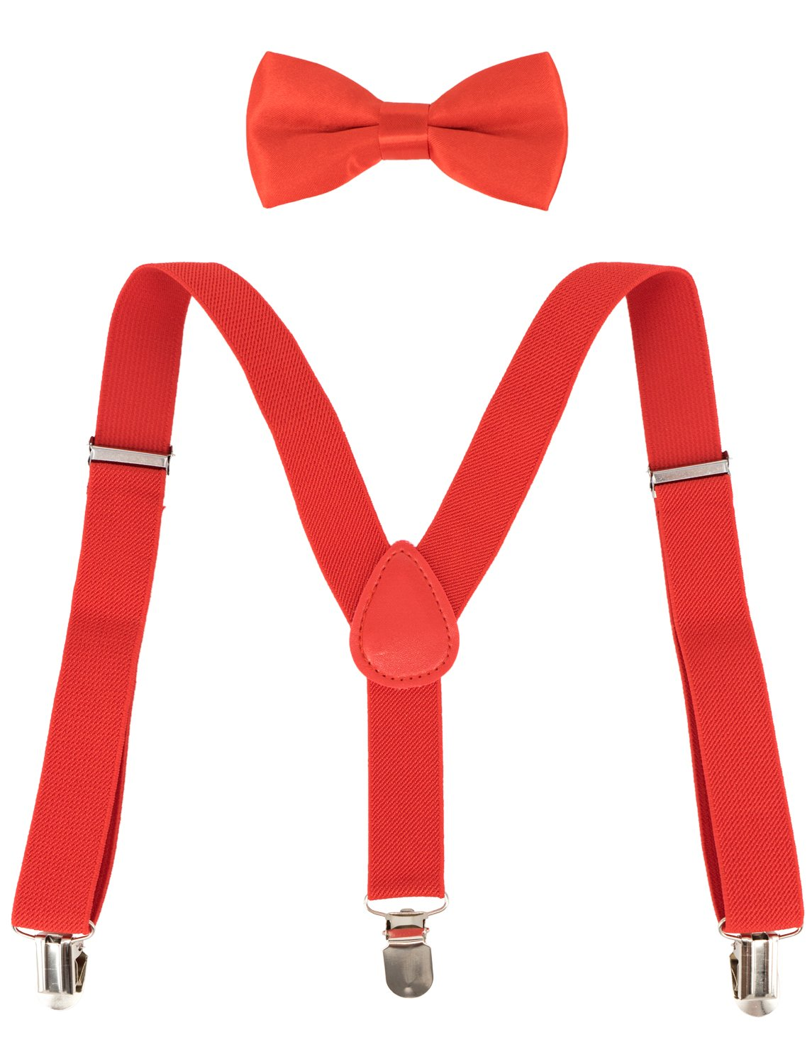 Ateid Children Kids Elasticated Braces with Bow Tie Clip-on Suspenders Set Y-shape for 1-7 Years