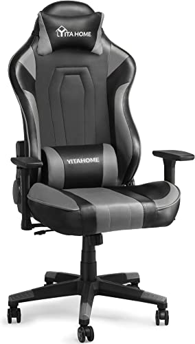 YITAHOME Massage Gaming Chair Big and Tall Heavy Duty 350lbs Ergonomic Video Game Chair High Back Office Computer Chair Racing Style