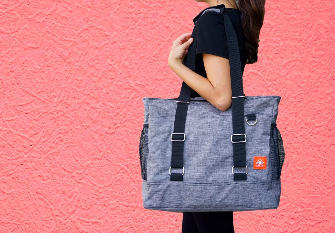 5ce711c64f LUCKAYA Yoga Mat Bag Tote Bag Backpack  Multi Purpose Carryall Bag ...