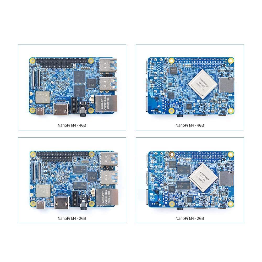 FriendlyARM NanoPi M4 4GB LPDDR3 Rockchip RK3399 SoC 2 4G & 5G Dual-Band  WiFi,Support Android and Ubuntu, AI and deep Learning