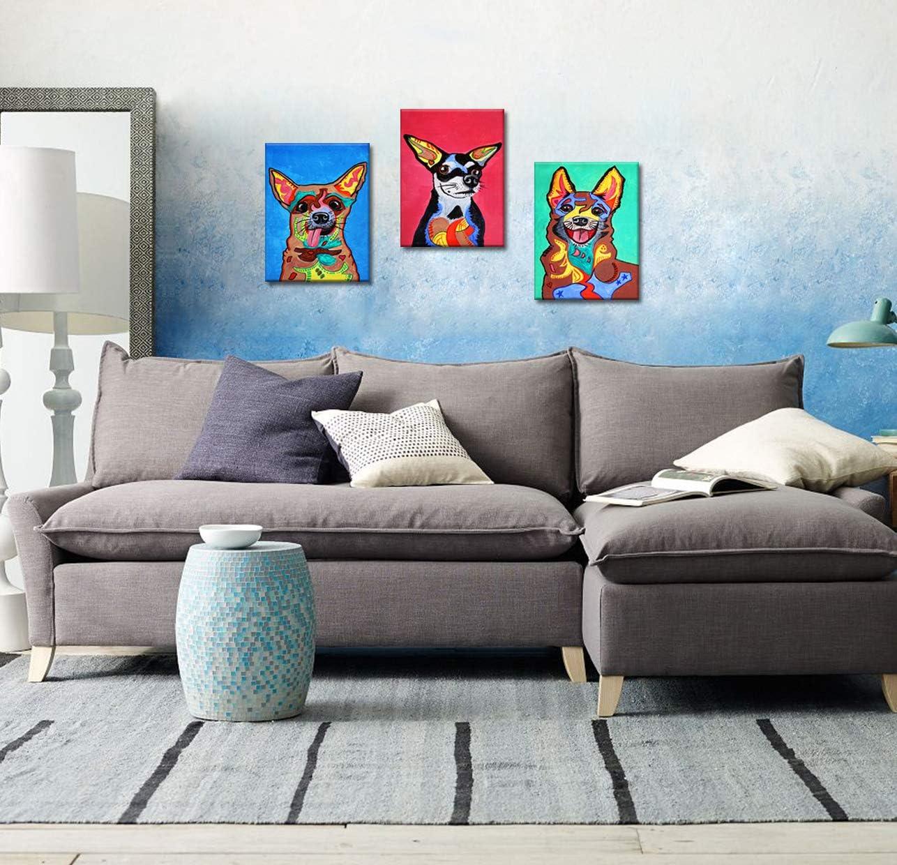 CUFUN Art Paon Bleu Debout sur Une Branche en Bois encadr/é Photo Imprime sur Toile d/écor /à la Maison 12x16inx2pcs