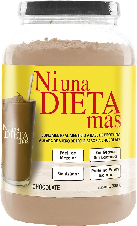 NI UNA DIETA MÁS - proteína whey isolate (delicioso chocolate) 0 azúcar, 0 Lactosa, fácil de mezclar