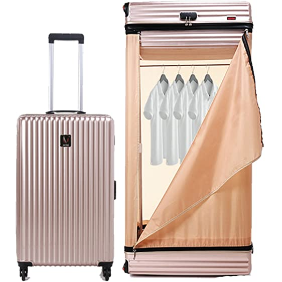 OLizee Creative 26u0026quot; Suitcase With Built In Shelves Closet (Champaign  ...