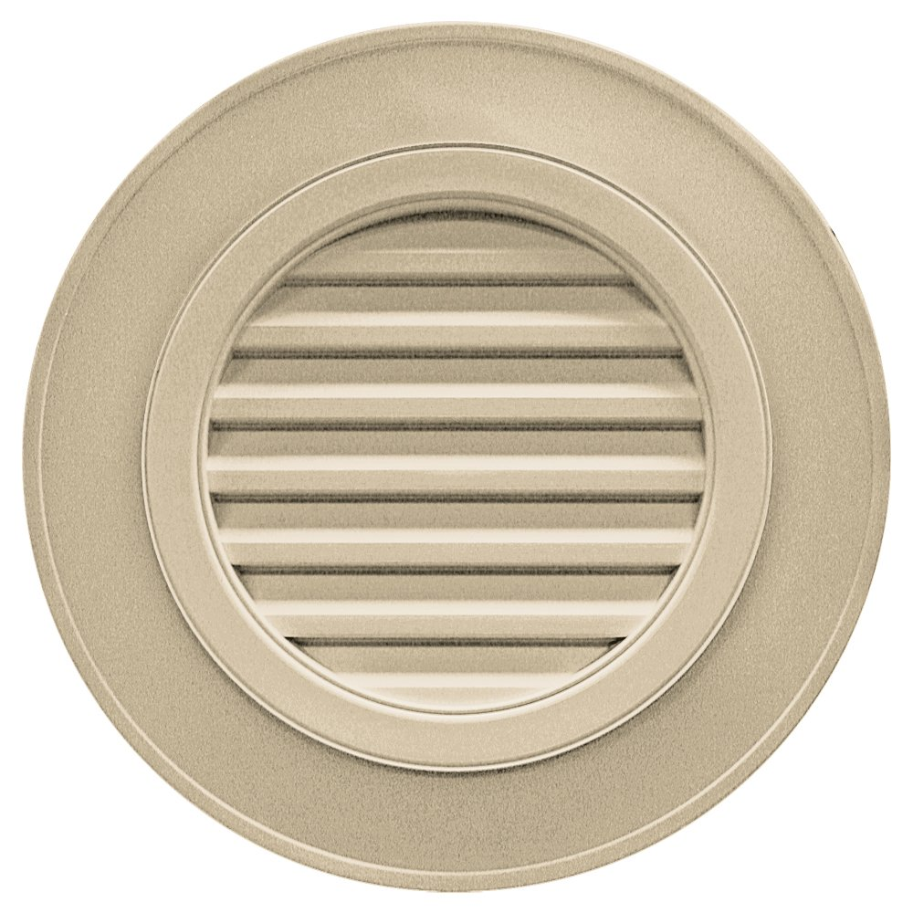 Builders Edge 120032828013 28'' Round Vent Designer without Keystones 013, Light Almond
