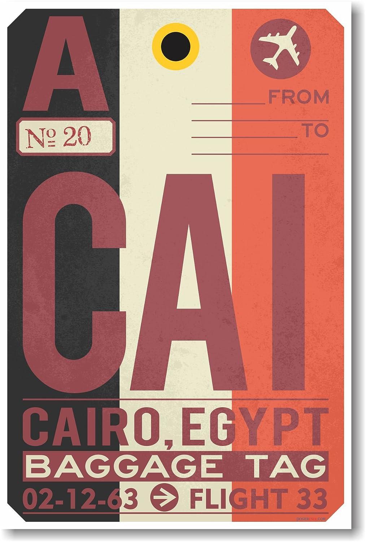 Cai – Cairo – Airportタグ – 新しい旅行ポスター B00T39E3YI