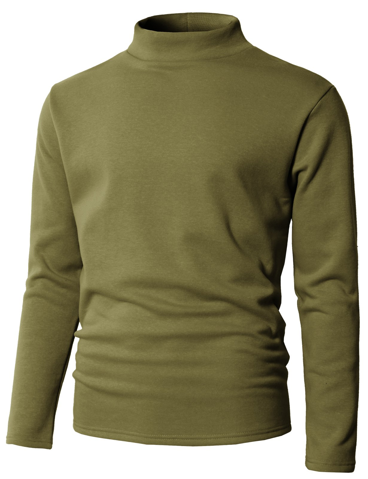 H2H Mens Regular Fit Soft Cotton Blend Turtleneck Pullover Sweater Khaki US M/Asia M (KMOSWL0230)
