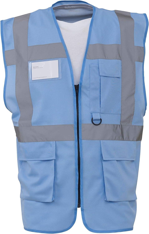 Gilet Alta visibilit/à Multi Tasche Yoko Confezione da 2