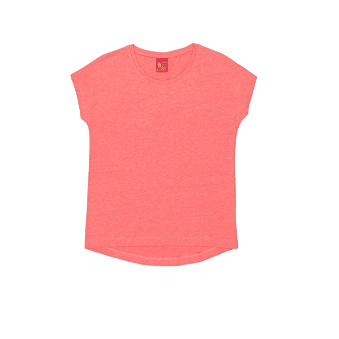 eb4e0db20a Plain Coral Coloured T-shirt for Girls by Miss Alibi  Amazon.in  Clothing    Accessories