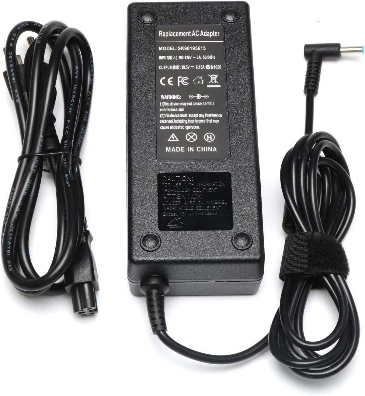 New 120W 19.5V 6.15A AC Laptop Adapter Charger for HP 710415-001 Envy 15 17 15-j008tx 15-j051nr 15-bc220nr 15-J002LA 17-1006tx 17-1007tx TouchSmart Sleekbook