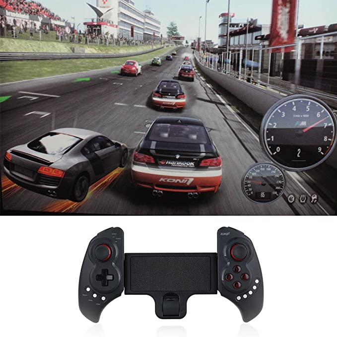 Epega Gamepad Telescopio Bluetooth 3.0 Wireless Controller con soporte para Android IOS Smartphone/Tablet PC/Win7 Win8 Win10 Ordenador/TV Box/inteligente tv ...