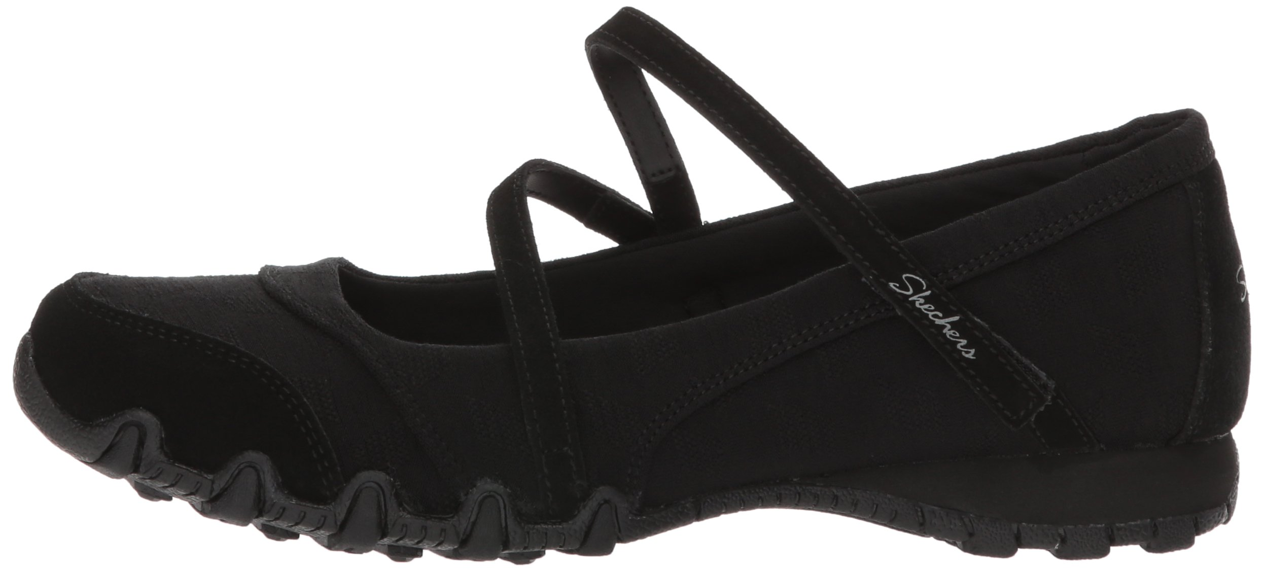 Skechers Women's Bikers -Fiesta Mary Jane Flat,7 M US,Black by Skechers (Image #5)