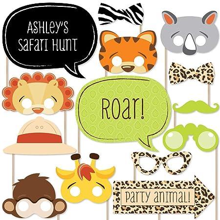SZSMART 20 pcs Animal Photo Booth Atrezzo Animal Photocall ...