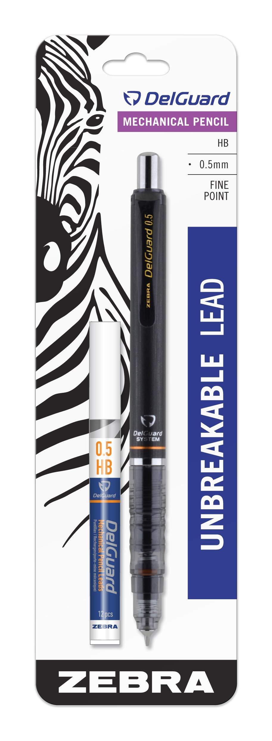 Zebra Delguard Lapiz Mecanico 0.5mm Con Tubo De Minas Hb
