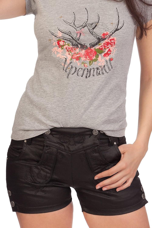 Trachten Damen Jeanshose kurz - SHORT - schwarz