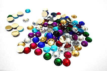 Stones/Kundan Round for Jewellery Making/Decorating . 8 Different ...