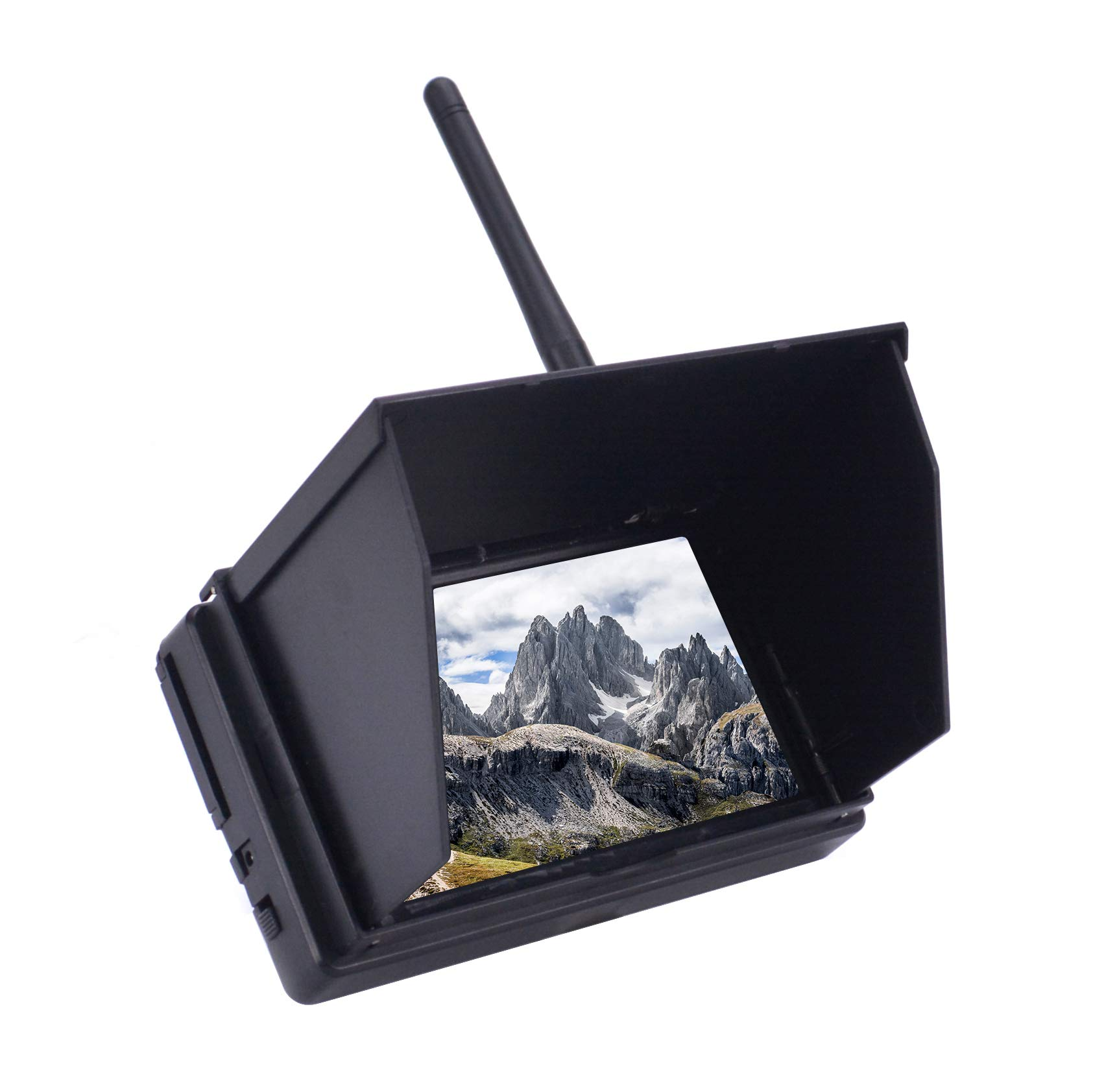 Readytosky 4.3'' FPV Monitor 48CH 480 x 22 LCD Wireless Receiver Monitor Built-in Battery with Sun Hood LCD Hood Shade for RC FPV Quadcopter by Readytosky (Image #3)