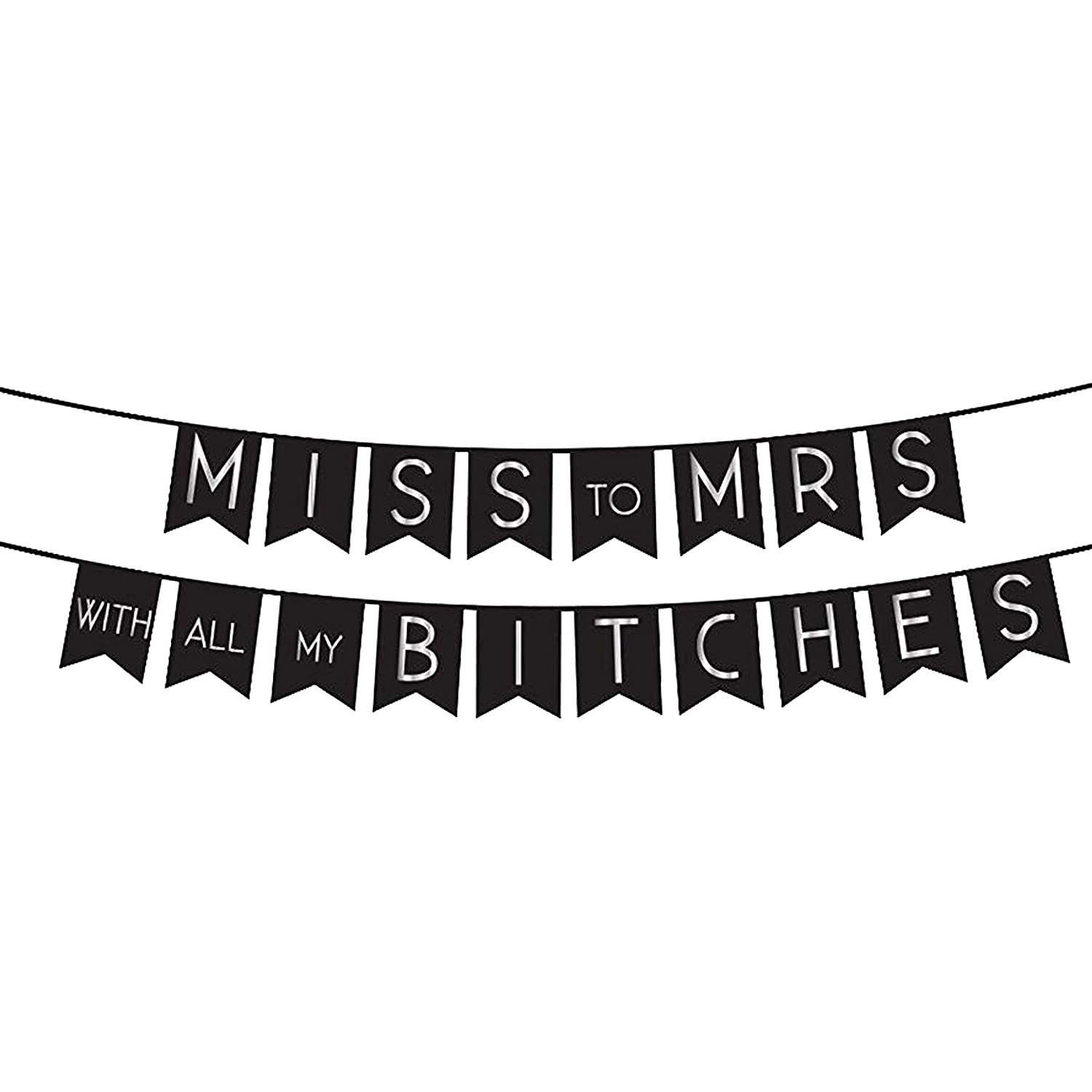 UrbanRed Miss to Mrs Banner Bachelorette Party Bridal Shower Decorations Bachelorette Decorations Wedding Decorations Miss to Mrs Party Decor Bachelorette Party Decorations Bridal Shower Banner Party