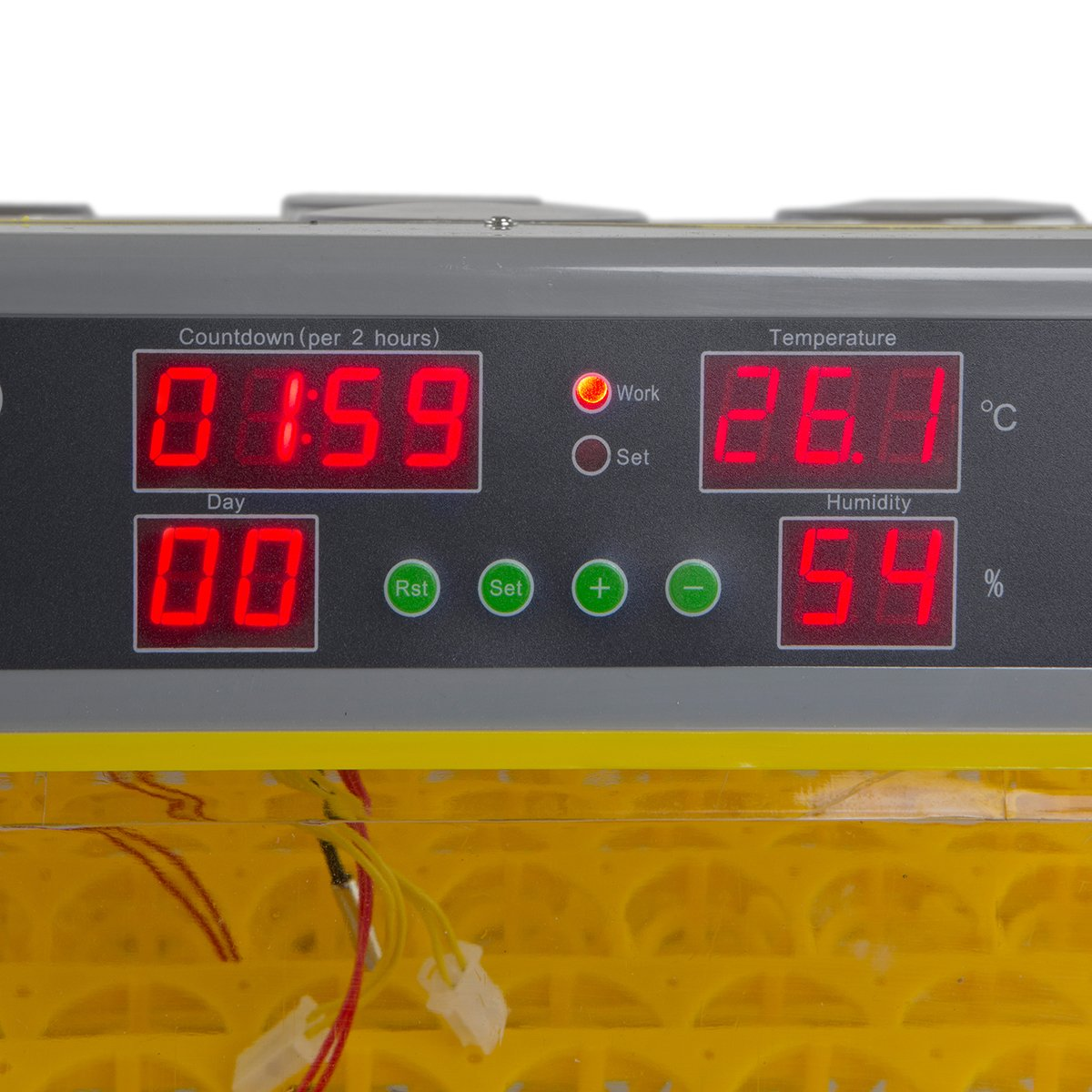 XtremepowerUS Egg Incubator 96 Eggs 2 Layer Digital Control Panel Poultry Hatcher Auto Egg Turner by XtremepowerUS (Image #4)