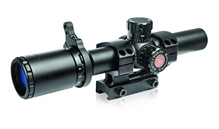 TRUGLO TRU-Brite 30 Series 1-6 X 24mm Dual-Color Illuminated-Reticle Rifle Scope with Mount