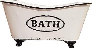 AHD Vintage Bathtub Storage Container Metal Bath Decor