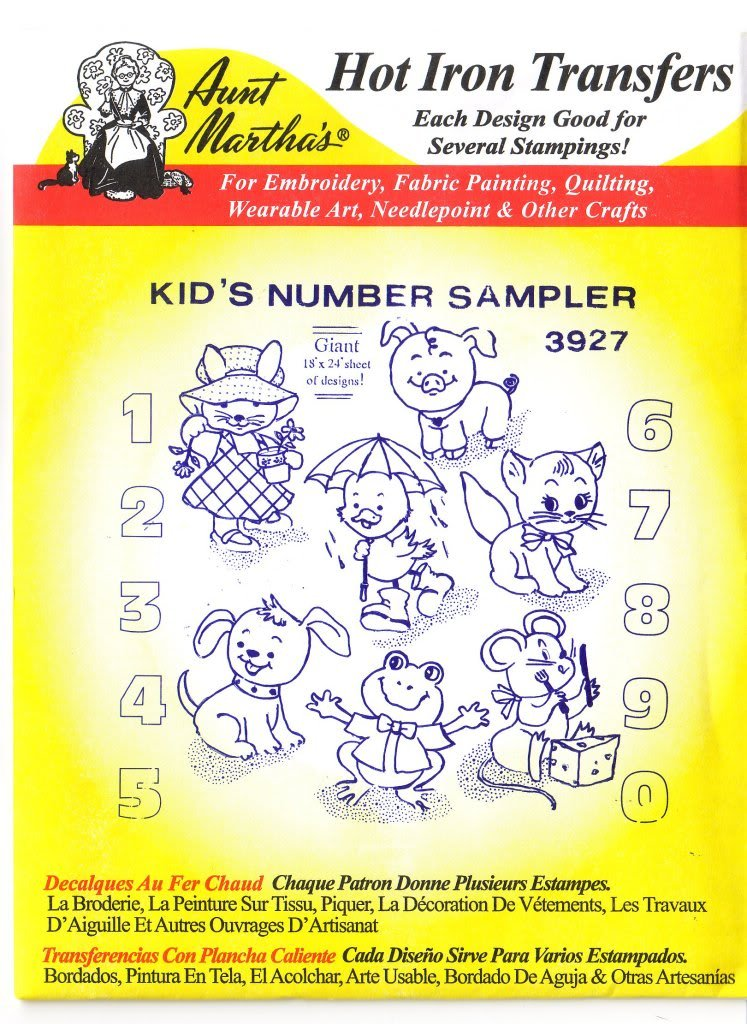 Amazon.com: Kid\'s Number Sampler Aunt Martha\'s Hot Iron Embroidery ...