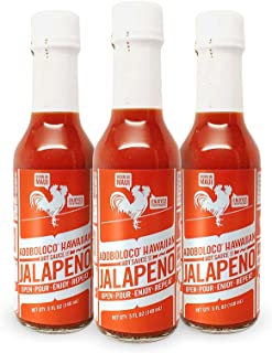 product image for Adoboloco Hot Sauce Jalapeno Hawaiian Sauce - Mild Red Umami Sauce (3-Pack) Fiery Chili Pepper Sautee, Salad Dressing, Condiment Chili Pepper Sauce Bundle