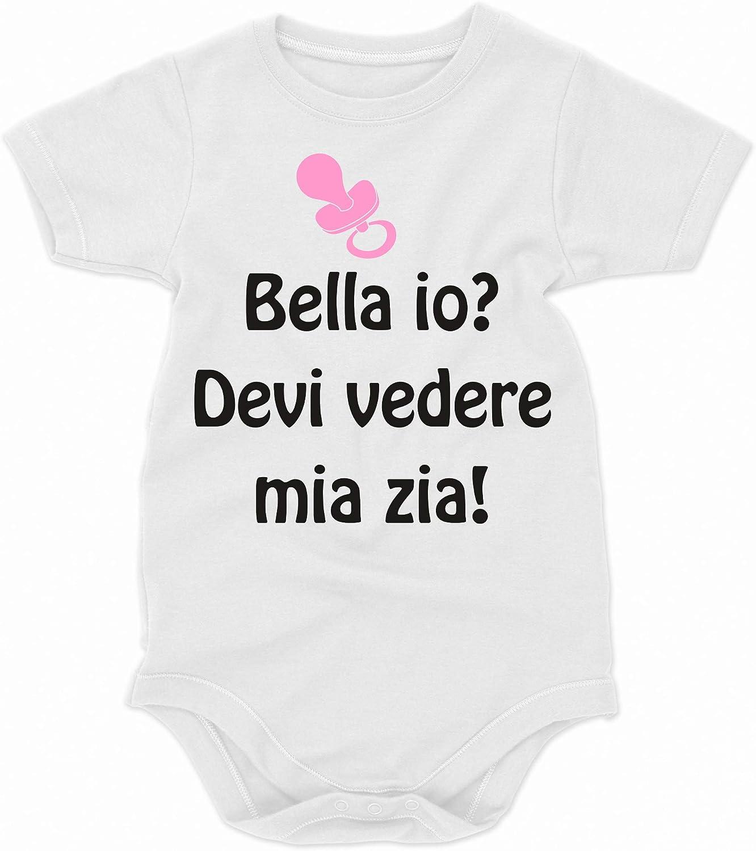 Body Simpatici e Divertenti Idea Regalo Devi Vedere mia Zia! Body da Neonato Bella io