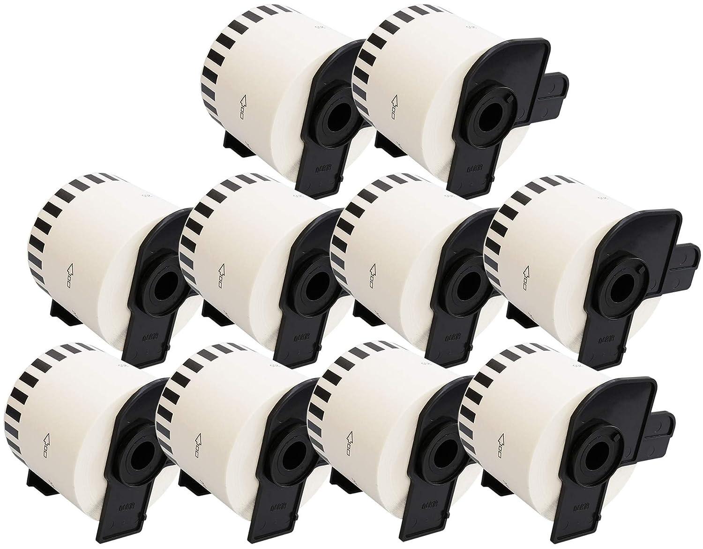 62mm x 30.48m Lot de 1 Prestige Cartridge DK22205 Rouleau Papier Etiquettes compatible pour Brother P-Touch