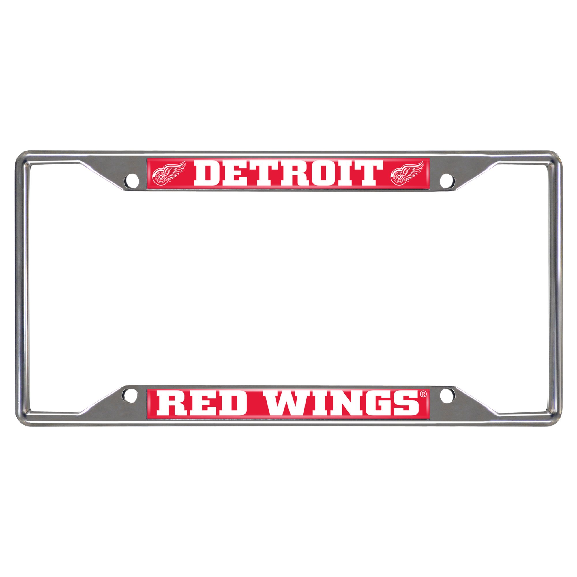 FANMATS NHL Detroit Red Wings Chrome License Plate Frame