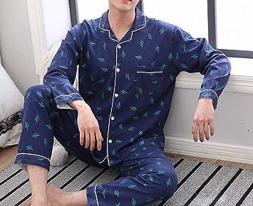 Pijamas - pijamas de algodón de manga larga de algodón de primavera y otoño de dibujos