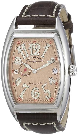 Zeno Watch Basel 8081-9-h6 - Reloj analógico automático unisex con correa de