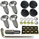 Aootf Stainless Steel License Plate Screws -30PC Star Anti Theft Screw Torx Head Security Tamper Resistant Self Tapping…