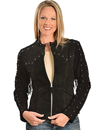 0b5ea75cf3c Scully Women s Lace Up Sleeve Leather Jacket at Amazon Women s Coats ...