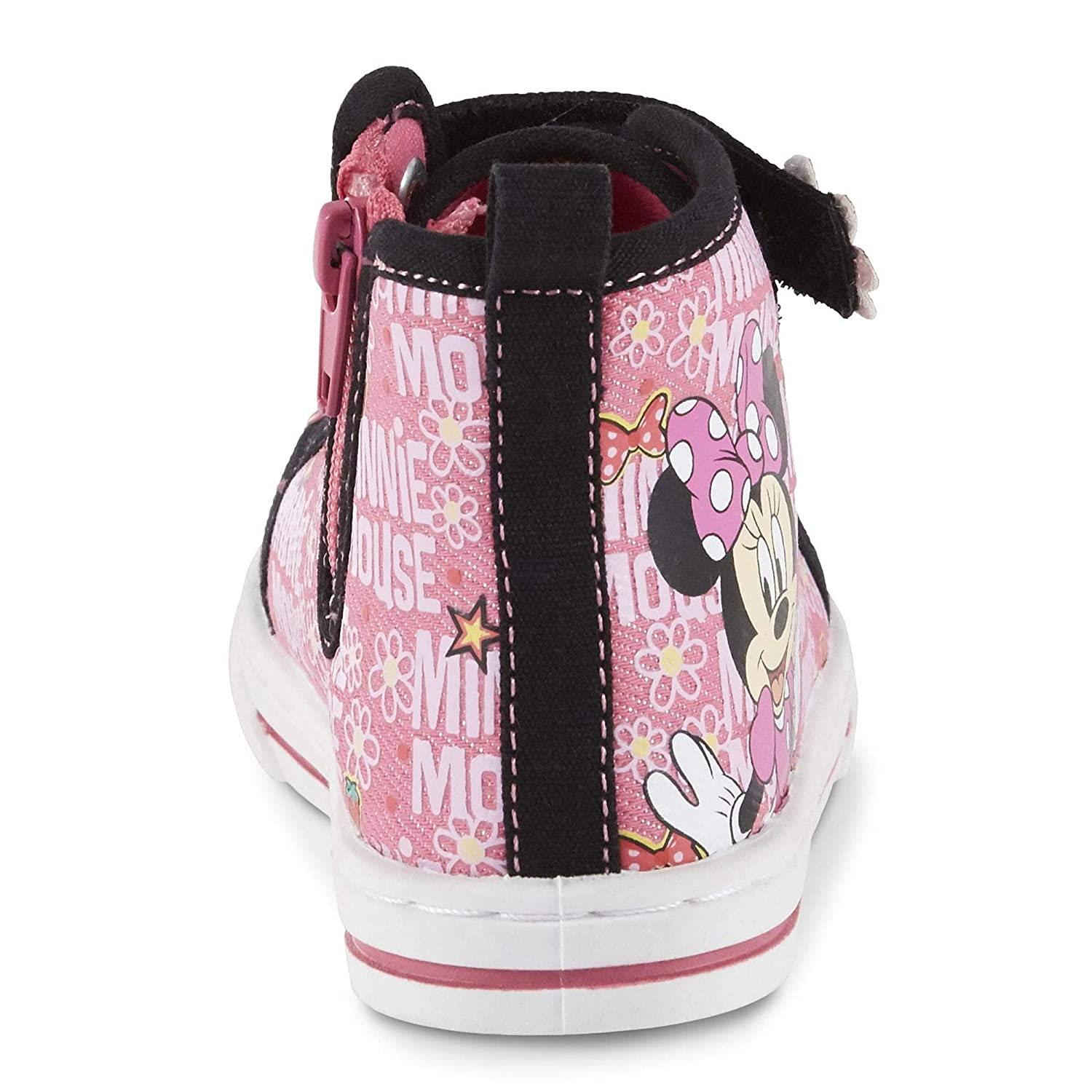 Disney Toddler Girls Minnie Mouse High-Top Sneaker