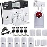 Yorbay Kit Alarme Maison sans Fil Téléphonique GSM capteur de Porte détecteur Mouvement (Modèle 2)