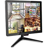 17 inch Security Monitor, Cocar Security Monitor Screen, LCD CCTV Display for Home Security Systems Surveillance Camera STB P
