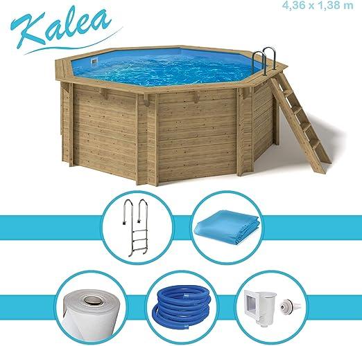 Paradies Pool® - Piscina de Madera Kalea con Accesorios, Escalera ...