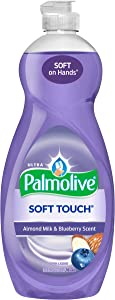 Palmolive Ultra Dish Liquid, Soft Touch Almond Milk and Blueberry Scent, 32.5 Ounce