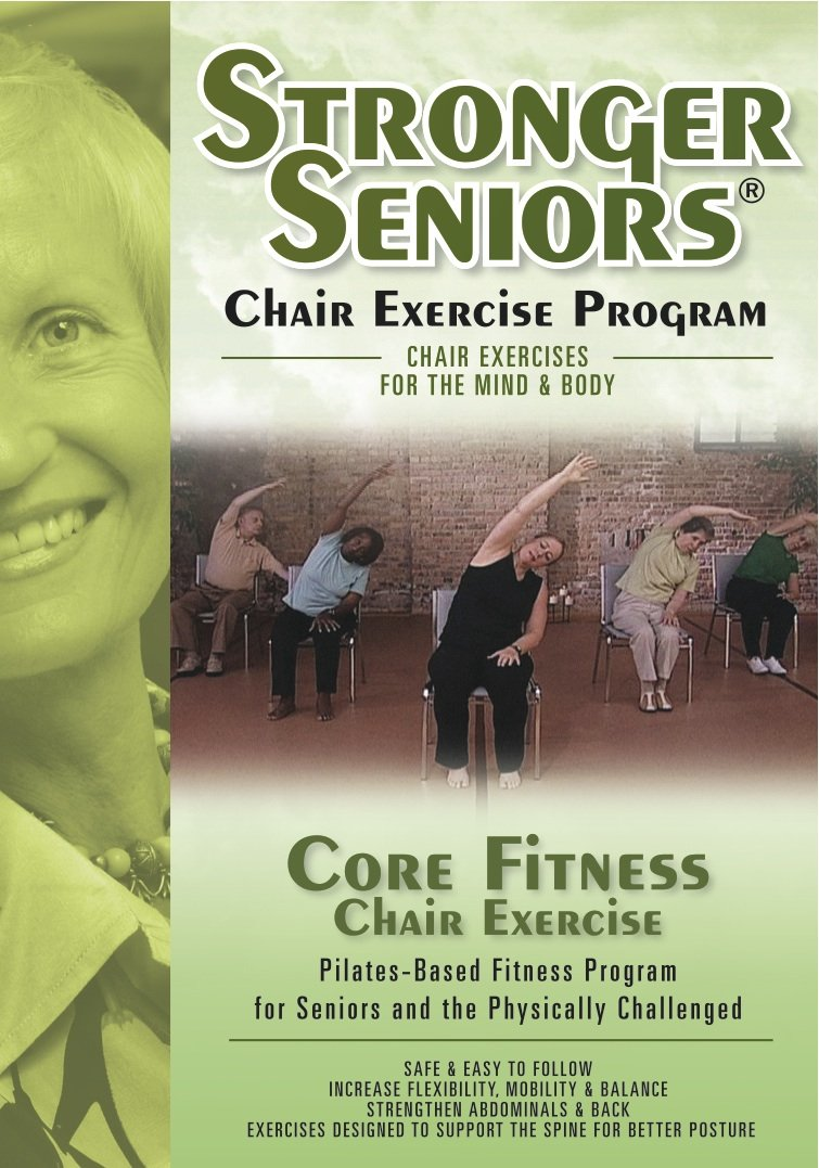 Chair exercises for seniors - Amazon Com Stronger Seniors Core Fitness Chair Based Pilates Program Designed To Strengthen The Abdominals Lower Back And Pelvic Floor