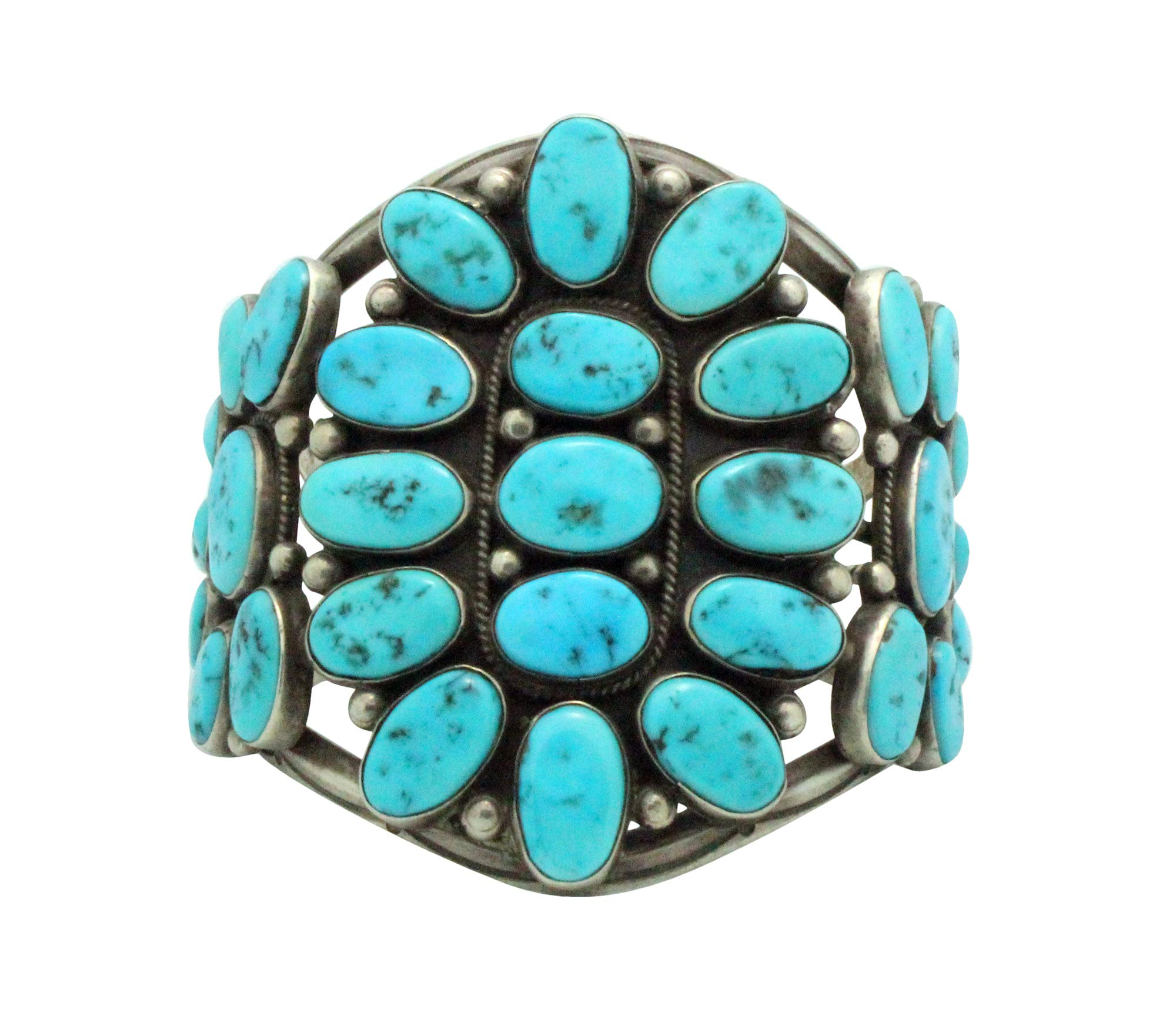 Hoskie Jim, Bracelet, Sleeping Beauty Turquoise, Circa 1980s, Navajo Made, 6.5