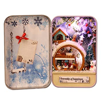 Christmas Gift Sets Diy.Buy Lanlan Diy Mini House Model Construction Toy Sets Manual