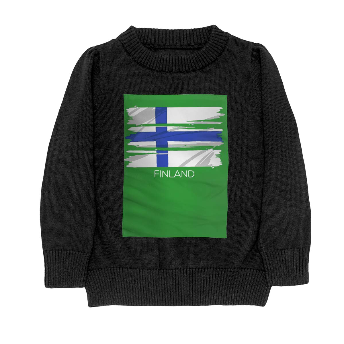 WWTBBJ-B Finnish Proud Patriotic Flag Style Adolescent Boys Girls Unisex Sweater Keep Warm
