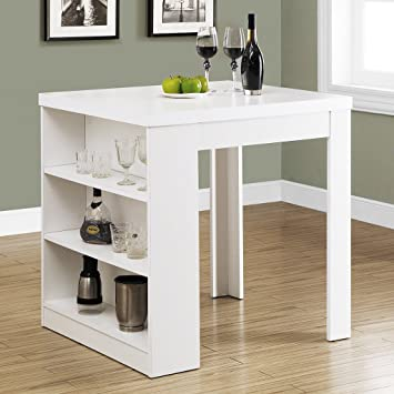 Beautiful Monarch Hollow Core Counter Height Table, 32 By 36 Inch, White