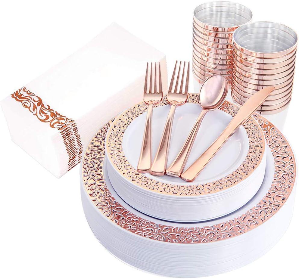 Amazon coupon code for 160pcs Lace Dinnerware Set