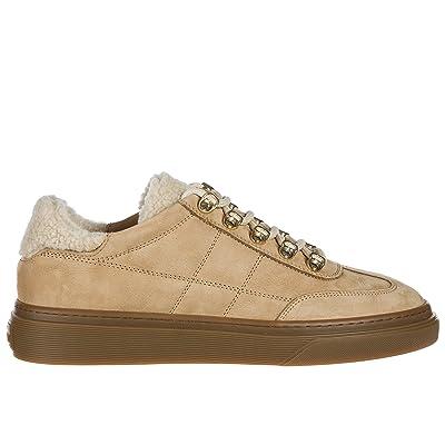 Hogan Chaussures Baskets Sneakers Femme en Daim h340 Marron