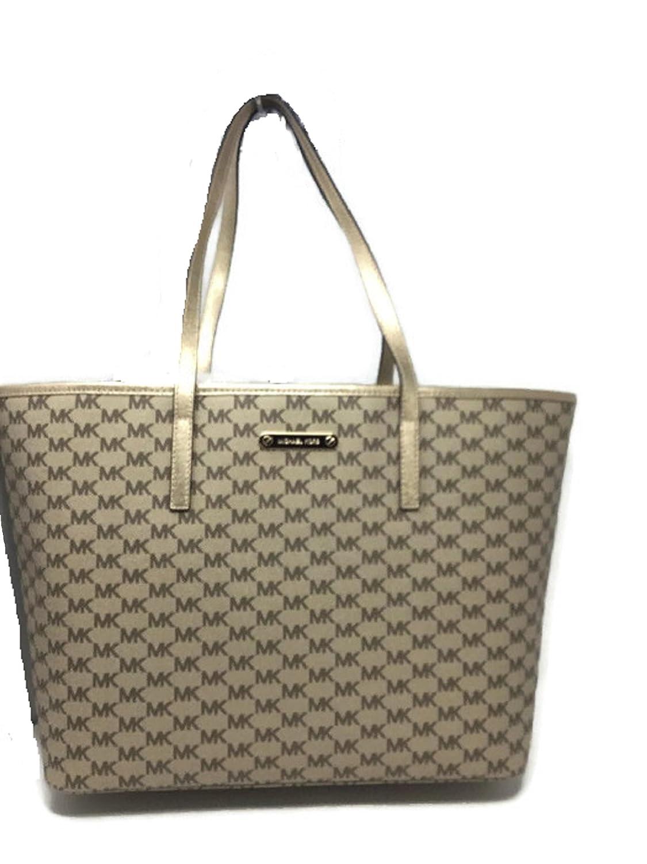d7acb347629b Amazon.com: Michael Kors Emry Large TZ Tote Handbag Natural/Pale Gold $328:  Clothing