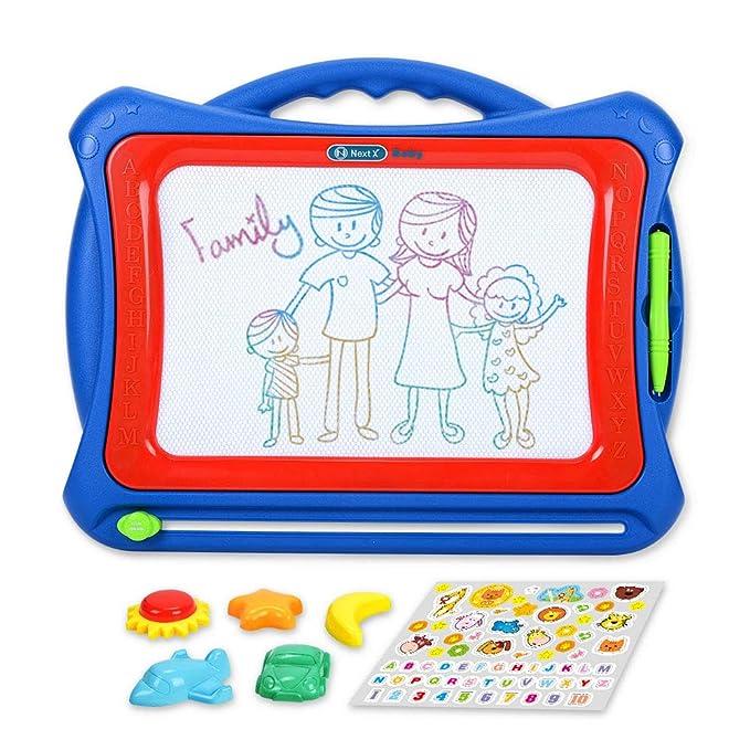 NextX Pizarra Magnética Mágica Grande - Juguete Educativo y Creativo de Color - Tablero de Dibujo Borrable - Regalo Perfecto de Navidad para Niños de ...