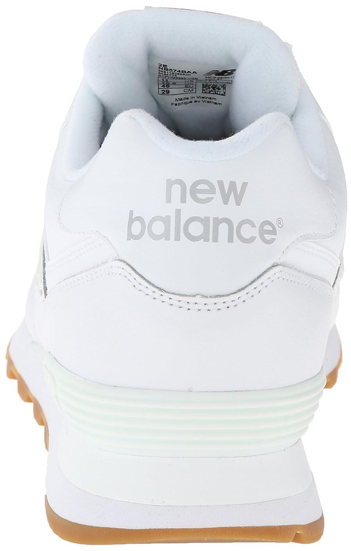 Los Nuevos Mens De Equilibrio Nb 574 De Cuero Paquete De Correr Zapato Blanco nylDo3V