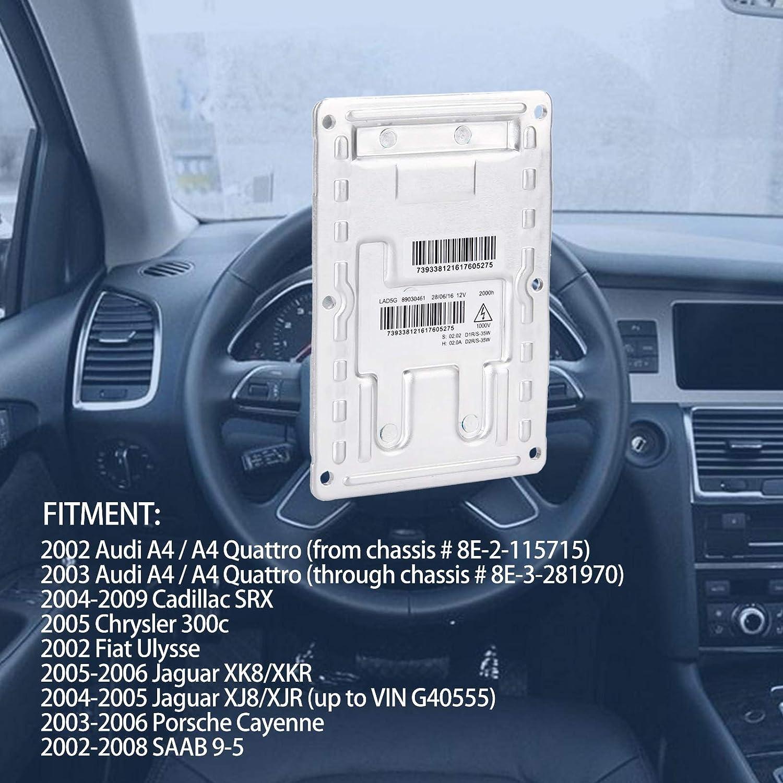 3D0 909 158 Fits for Audi A4 Cadillac SRX Chrysler 300c Fiat Jaguar Porsche SAAB 9-5 Replacement LAD5G Xenon HID Headlight Ballast 12 Pins- Control Unit Module 89034934 3 Year Warranty