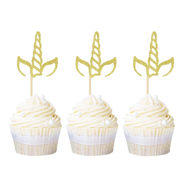 Unicorn Horn Cupcake Picks 24 pcs Cakes